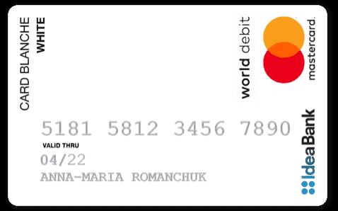 Кредитная карта Card Blanche Online (White) Idea Bank