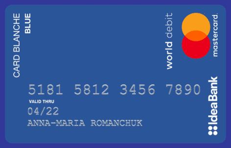 Card Blanche Blue Idea Bank