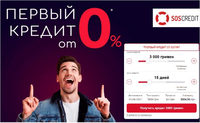 SOS Credit _баннер